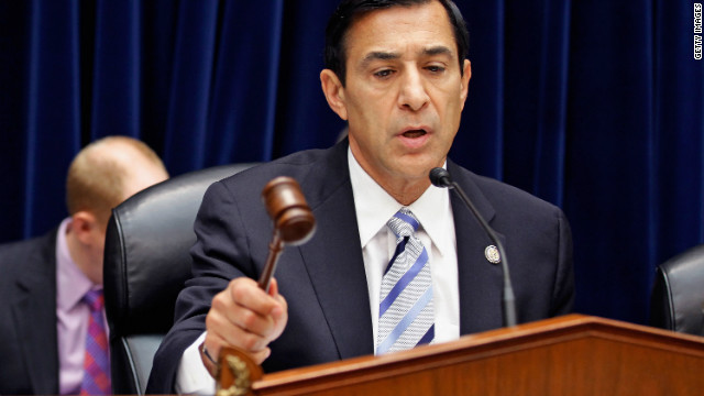 Rep. Darrell Issa, Chairman of the House Oversight Committee, holds a hearing in Washington on June 20, 2012.