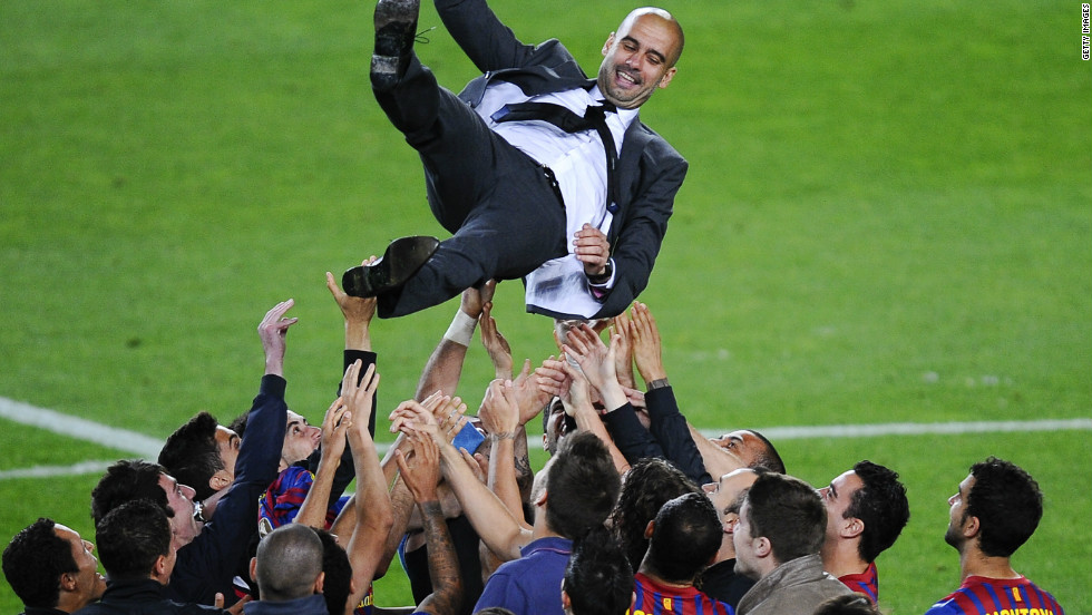 Pep Guardiola, who was handed his Barcelona debut by Cruyff, built on his former manager's style when he became coach of the club. His tiki taka style, based on fast passing and fluid movement, saw him lead Barca to 14 trophies in four years. The Spanish side aped Barcelona's style, and seven of their players started the 2010 World Cup final.