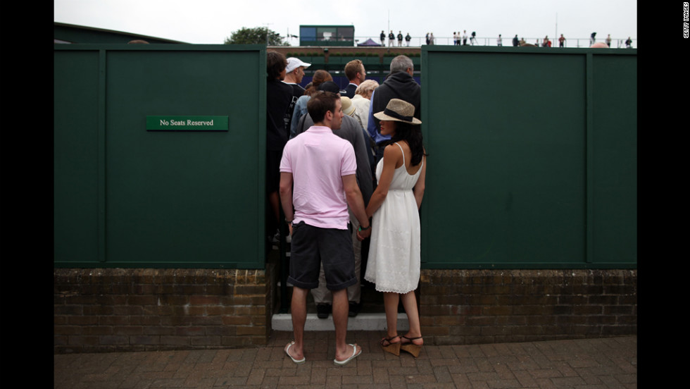 A general view of atmosphere on day two of the Wimbledon Lawn Tennis Championships at the All England Lawn Tennis and Croquet Club on June 26.