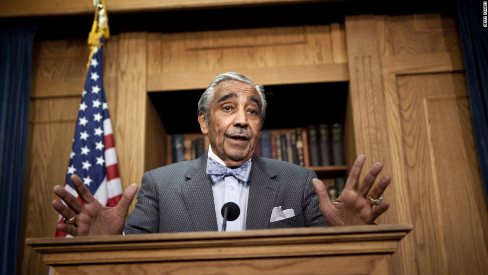 Rangel announced he was temporarily stepping aside as chairman of the House Ways and Means Committee until the House Ethics Committee concluded an investigation into possible violations.