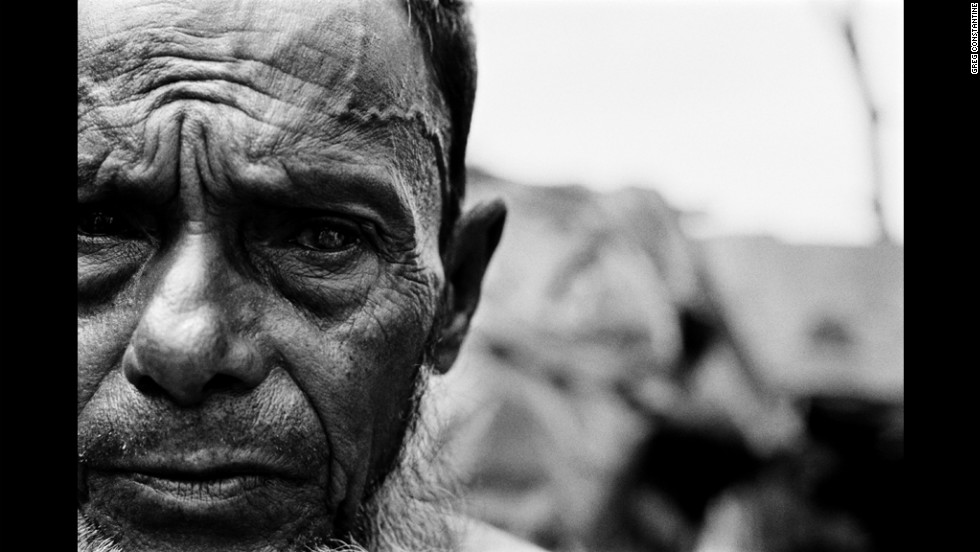 Blind in one eye after being beaten in the head during forced labor, this man fled Myanmar in the mid 1990s, one of an estimated 200,000 undocumented Rohingya living in neighboring Bangladesh, according to Human Rights Watch.