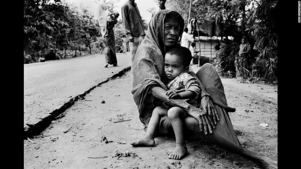Like thousands of exiled Rohingya, this woman and her grandchild currently live in desperate conditions in Bangladesh.