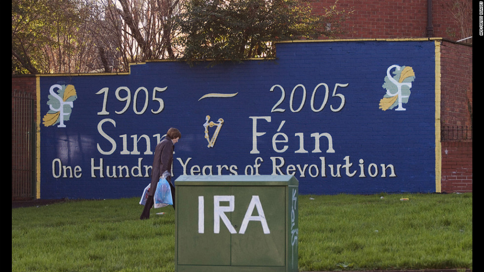 A mural in West Belfast, Northern Ireland, marks what some see as the end of the traditional IRA.