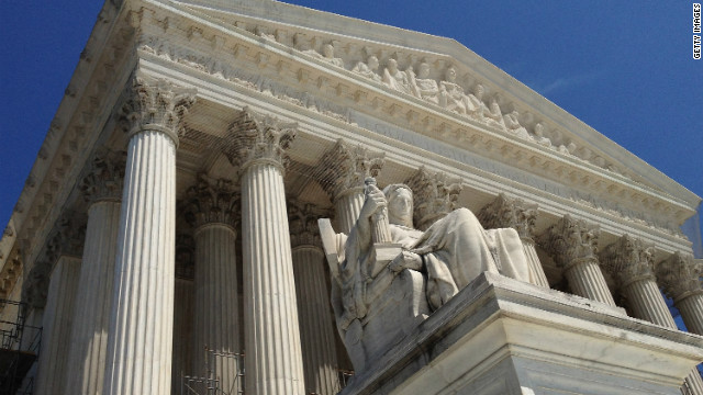 The U.S. Supreme Court building is pictured June 27, 2012 in Washington.