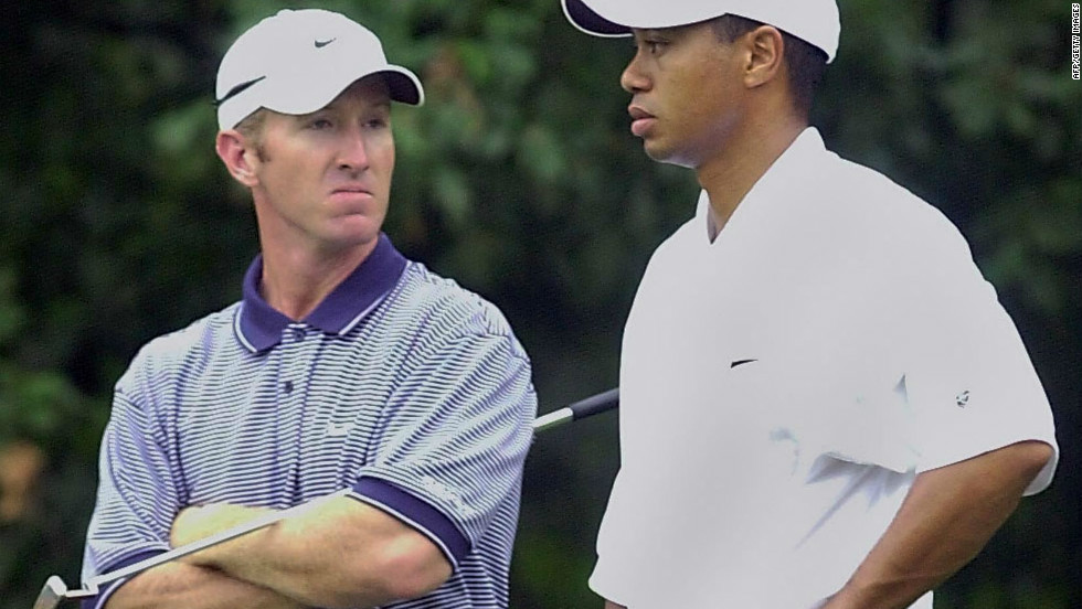 "Duval was unable to stop Woods completing a ""Tiger Slam"" at the Masters earlier that year, finishing second -- two shots behind the world No. 1 -- at Augusta in April. They won the World Cup of Golf for the U.S. the previous year."