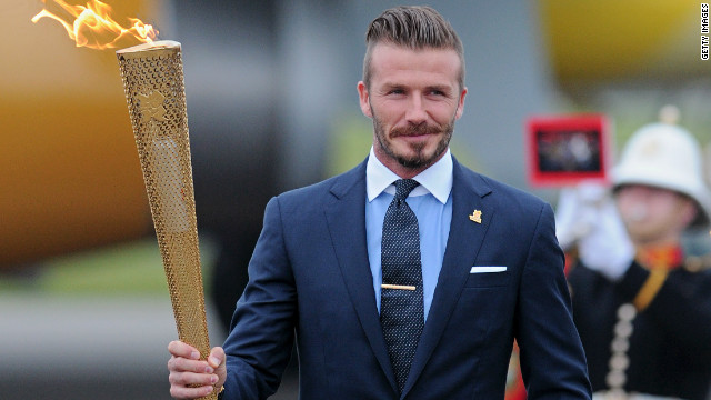 Los Angeles Galaxy star David Beckham was part of London's successful bid to host the 2012 Games.