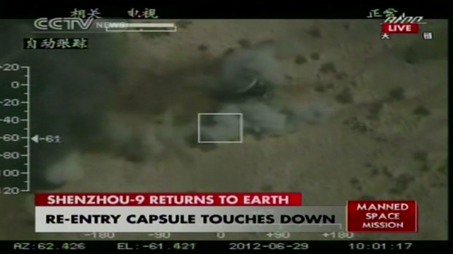Chinese space capsule returns to Earth