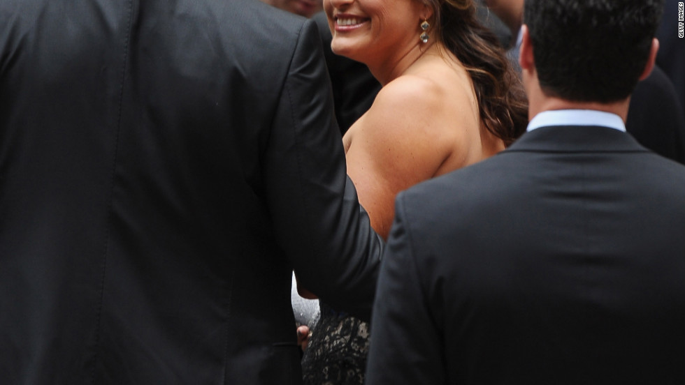 """Law & Order: Special Victims Unit"" actress Mariska Hargitay attends the wedding."