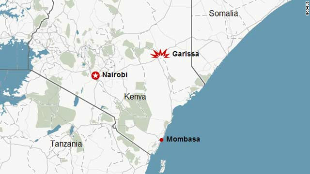 Sunday's blasts happened at two churches in the Kenyan town of Garissa, close to the border with Somalia.