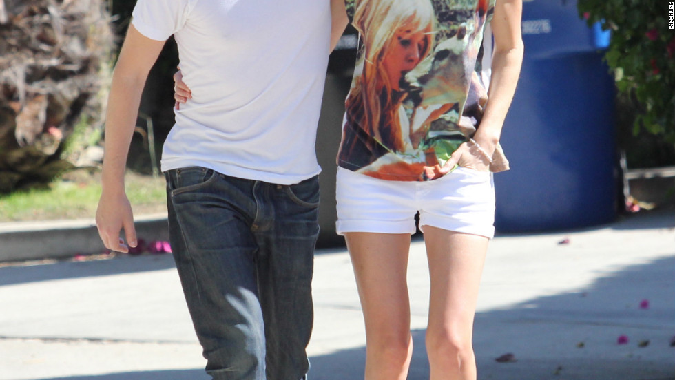 Kate Bosworth and Michael Polish visit friends in Los Feliz.