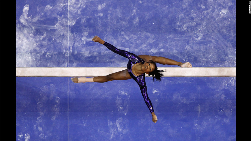 Gabrielle Douglas competes on the beam during Day Four of the 2012 U.S. Olympic Gymnastics Team Trials in San Jose, California.