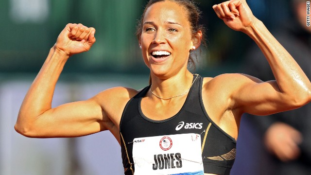 U.S. track and field star Lolo Jones