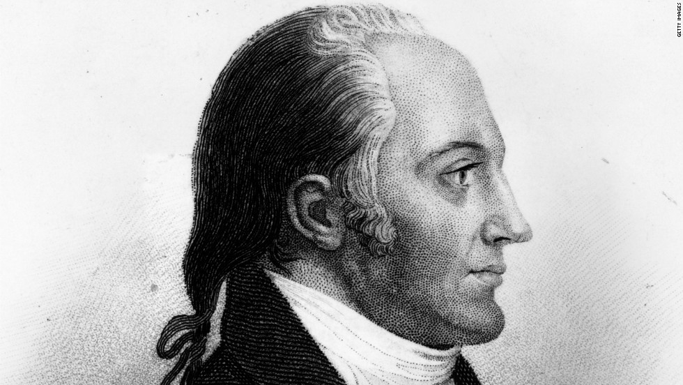Circa 1800: American statesman Aaron Burr (1756 - 1836). Vice President to Thomas Jefferson, he mortally wounded his rival, Alexander Hamilton, in a duel and died in disgrace.
