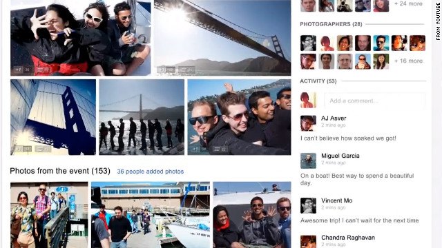 Google Plus recently added a new feature for events and photo-sharing.