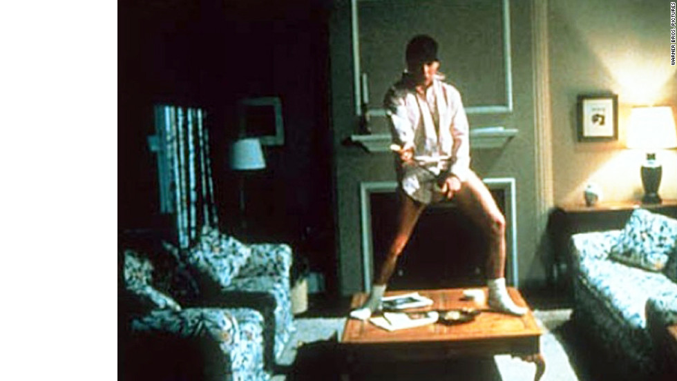 "This scene from 1983's ""Risky Business,"" which features Cruise's Joel Goodson dancing around sans his pants, has been immortalized in Guitar Hero commercials and 1999's ""Never Been Kissed."""