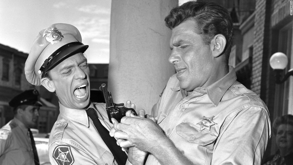 "Griffith and Don Knotts were beloved co-stars in the CBS television series ""The Andy Griffith Show"" from 1960 through 1968."