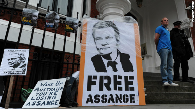WikiLeaks founder Julian Assange fled to the Ecuadorian Embassy in London last month.