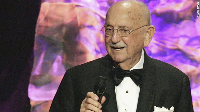 Earle Hagen is shown in Beverly Hills at the 2006 BMI Film/TV Awards, where he received the Classic Composition Award.