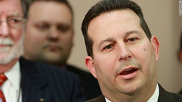 ORLANDO, FL - JULY 5:  Jose Baez, lead defense counsel for Casey Anthony, answers questions as co-counsel Cheney Mason (L) looks on after his client was found not guilty in her 1st-degree murder trial at the Orange County Courthouseon July 5, 2011 in Orlando, Florida. Casey Anthony had been accused of murdering her two-year-old daughter Caylee in 2008 and was found not guilty of manslaughter in the first degree.  (Photo by Joe Burbank-Pool/Getty Images)