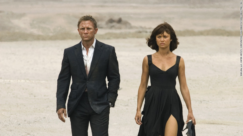 "Camille Montes, played by Olga Kurylenko, with Daniel Craig as Bond in 2008's ""Quantum of Solace.&인용;"