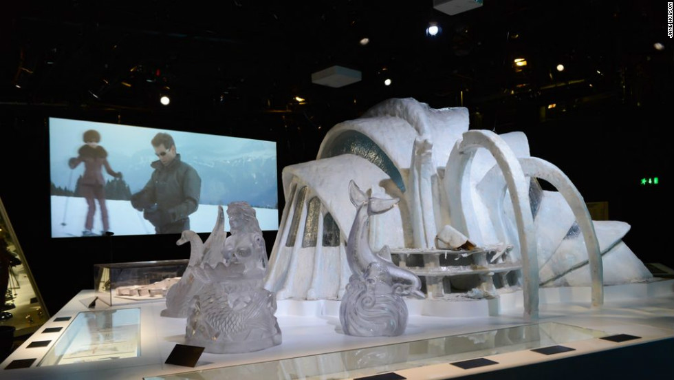 """Designing 007: Fifty Years of Bond Style'' features 400 Bond archive items together for the first time, and features a model of the Ice Palace from ""Die Another Day.&인용;"