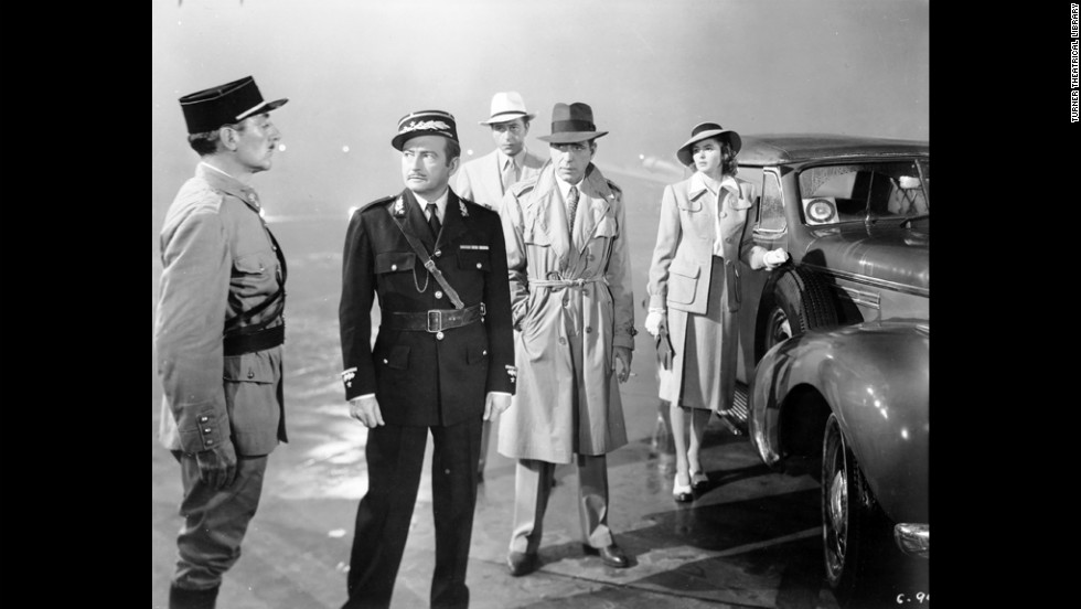 "At film's end, Rick manages to ensure that Ilsa leaves with Victor. But having killed the villainous Major Strasser (not pictured), he will need to flee Casablanca, presumably accompanied by the likeable but corrupt police captain, Louis Renault (Claude Rains), who has had an epiphany of his own. In the end, they walk into the fog with Rick uttering the famous last words: ""Louis, I think this is the beginning of a beautiful friendship."""