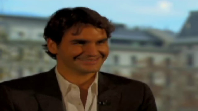 roger federer giggles interview pedro pinto