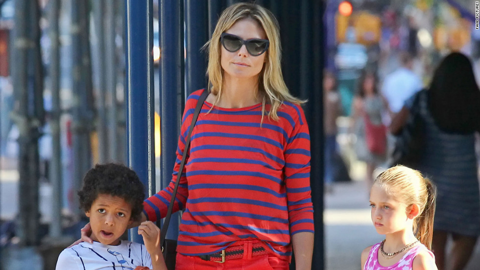 Heidi Klum spends the day with her kids.