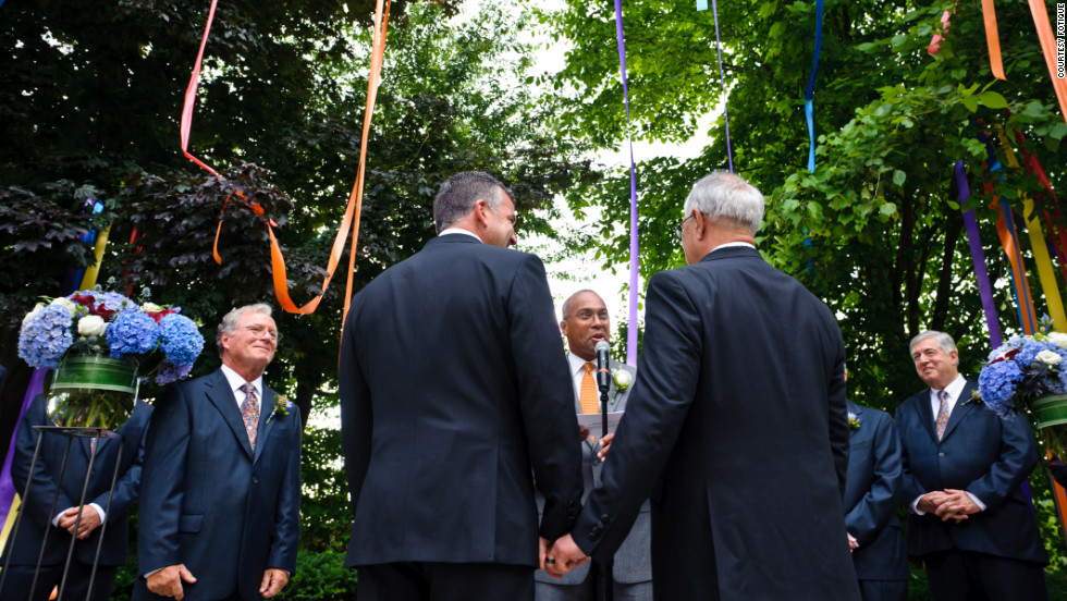 The 16-term Massachusetts Democrat married Ready, a small business owner and photographer from Maine, at a ceremony officiated by Massachusetts Gov. Deval Patrick.