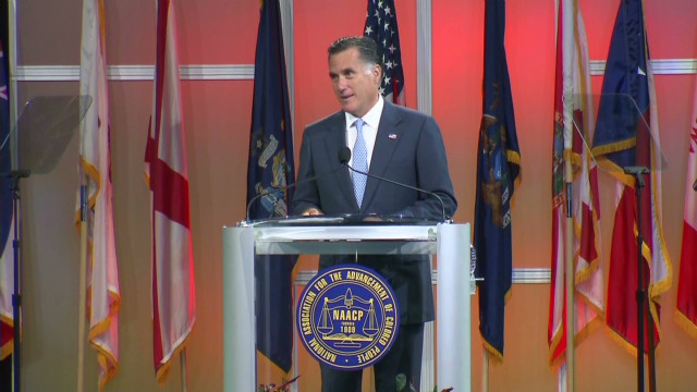 Romney asks NAACP for support