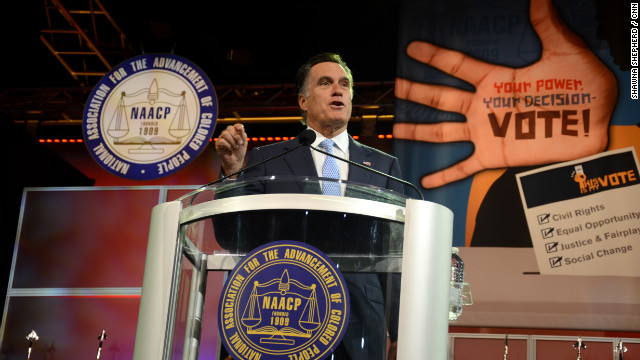Mitt Romney drew boos from the NAACP audience when he talked of repealing Obamacare.
