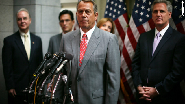 House Speaker John Boehner spoke to the media Tuesday, a day before the House GOP voted to repeal Obamacare.