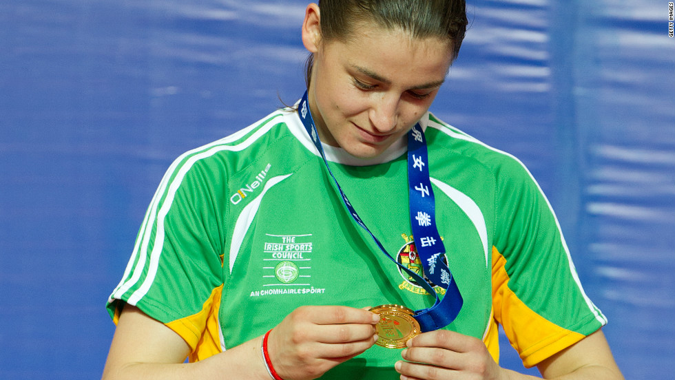 Ireland's European and world champion Katie Taylor has won a total of 13 gold medals across three different federations, all at the 60 kg weight class. She has also represented the Republic of Ireland at international level in football, and might be recognized by some after starring in a recent Lucozade Sport advertisement.