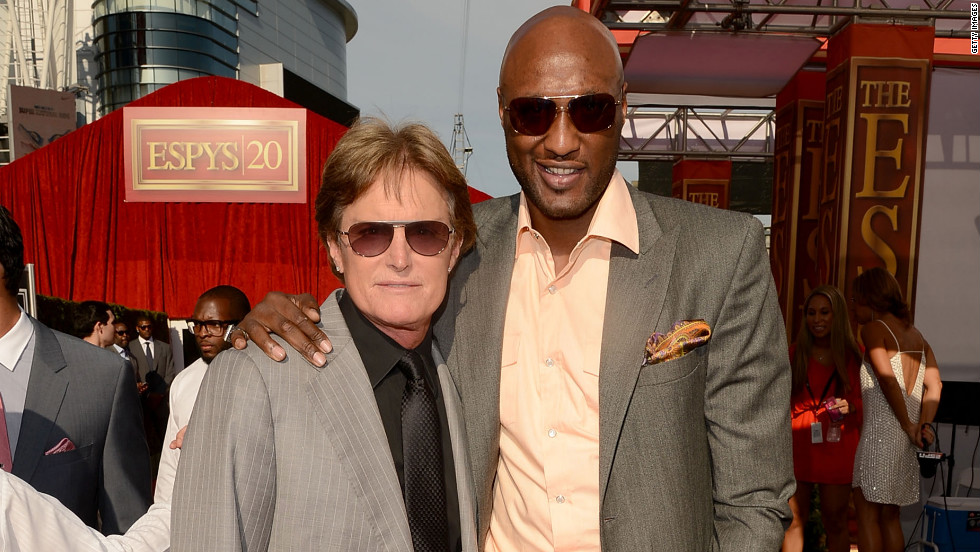 Bruce Jenner and Lamar Odom posed for pictures at the ESPY Awards.