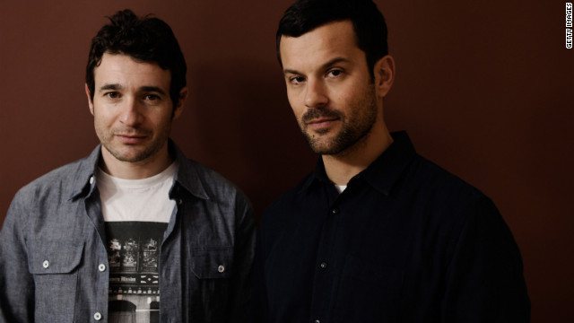"""The Imposters"" Director Bart Layton and producer Dimitri Doganis at the 2012 Sundance Film Festival."