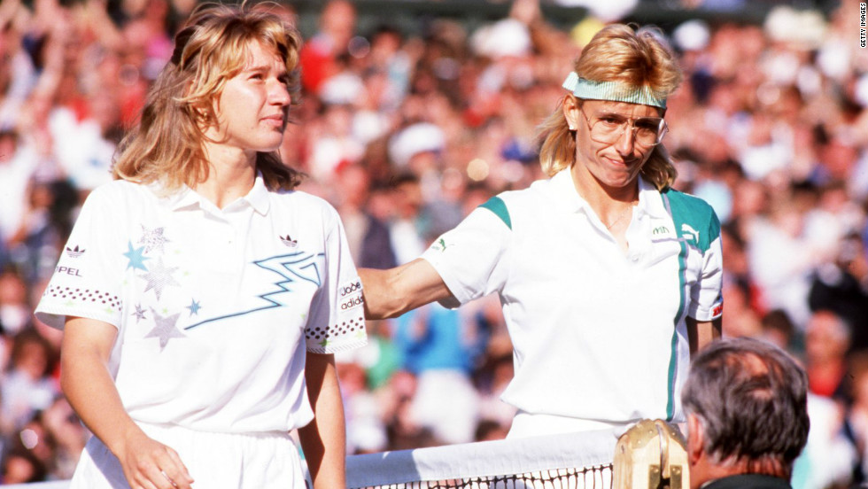 Graf beat seven-time winner Martina Navratilova in the final as she won her first Wimbledon title in 1988 at the tender age of just 18.