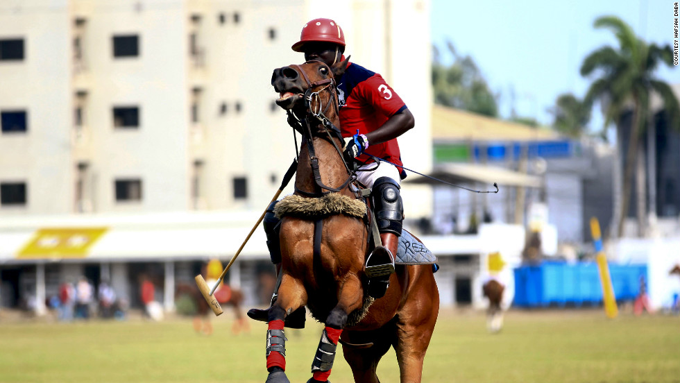 "A player at the Ikoyi Polo Club in Lagos. ""In Nigeria, it's a sport for the elite,"" said photographer Hafsah Daba."