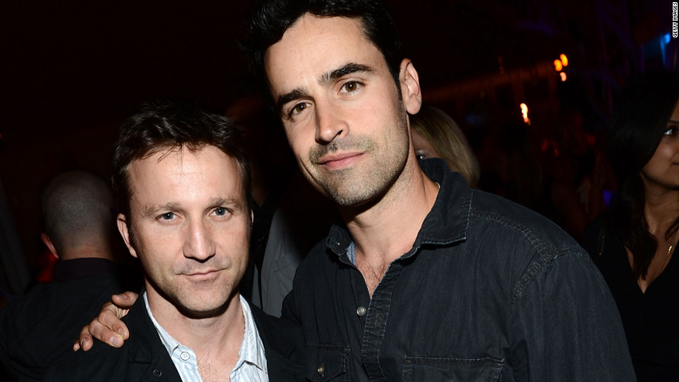 Breckin Meyer and Jesse Bradford attend a party at Comic-Con.