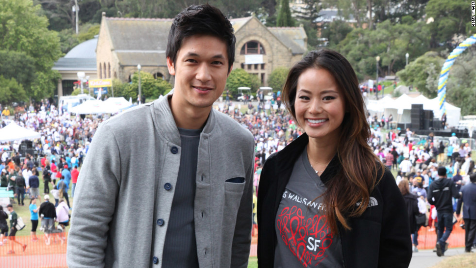 Harry Shum Jr. and Jamie Chung attend AIDS Walk San Francisco.