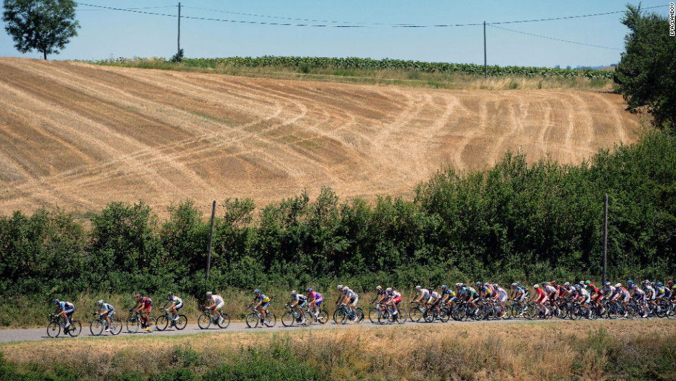 Monday's stage was a mostly rolling course with no major climbs.