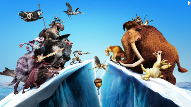 "Fox's ""Ice Age: Continental Drift"" beat rival animated flick ""Brave"" at the box office this weekend."