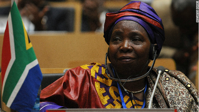 Dlamini-Zuma at a 2012 African Union summit