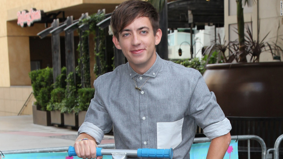 """Glee's"" Kevin McHale attends an event in Hollywood."