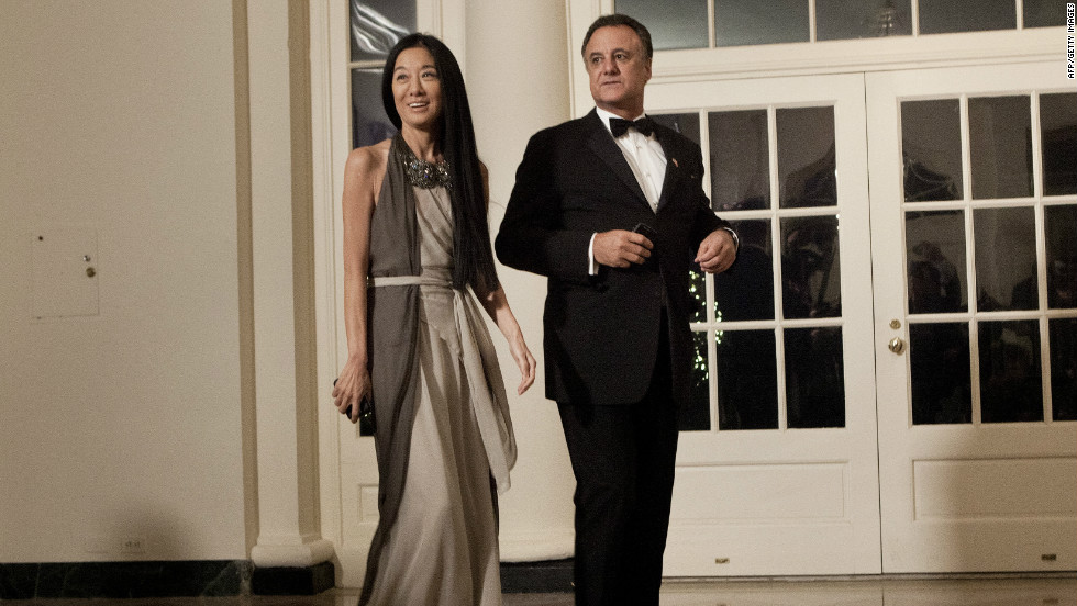 Wang and Becker arrive at the White House State Dinner for Chinese President Hu Jintao in January 2011.