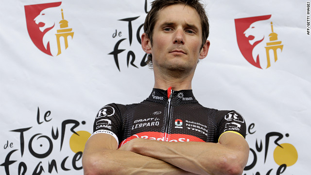 Luxembourg's Frank Schleck, of the RadioShack team, finished third in the Tour de France of 2011