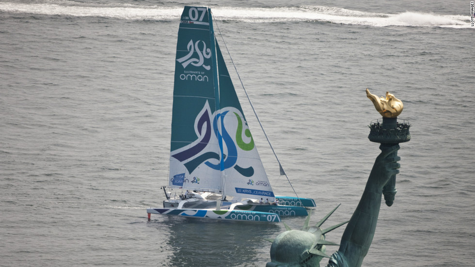 "The Krys Ocean Race started in New York City on July 7, the final destination was the French city of Brest. It took the ""Musandam-Oman Sail"" yacht 5 days, 7 hours, 5 minutes and 38 seconds to cross the Atlantic."