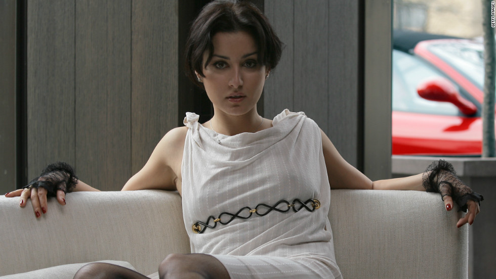 Russian TV host Tina Kandelaki at the Bulgari Hotel February 26, 2007 in Milan. Kandelaki was pulled out of the wreckage with Kerimov.