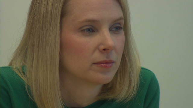 Marissa Mayer's on the job at Yahoo