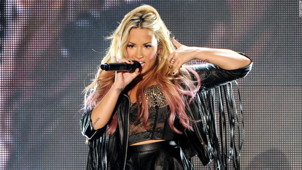 Demi Lovato performs in Los Angeles.