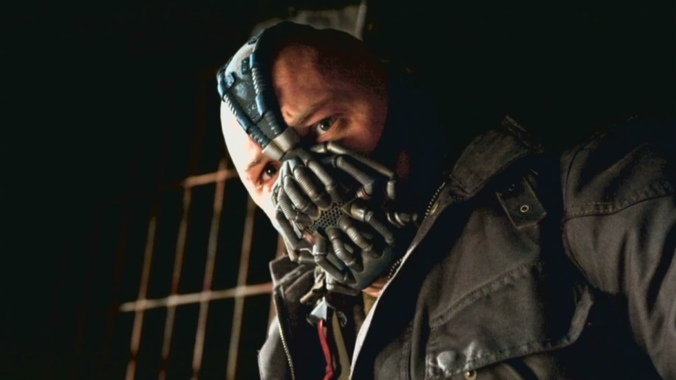 "In the third and final installment of Nolan's series, ""The Dark Knight Rises,"" Bane is the formidable villian faced by Batman."